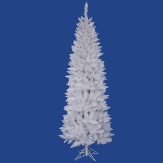 "9' x 40"" Sparkle White Spruce Pencil Tree with 982 PVC Tips"