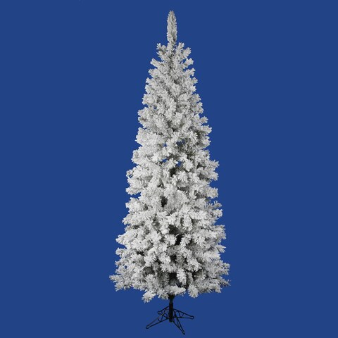 """5.5' x 30"""" Flocked Pacific Tree with Tree with 252 PVC Tips"""