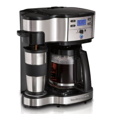 Hamilton Beach 49980Z 'The Scoop' 2-Way Brewer Coffeemaker