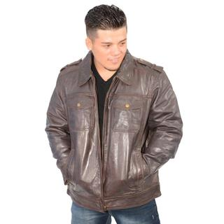Men's Cow Jumble Jacket with Antique Silver Zipper