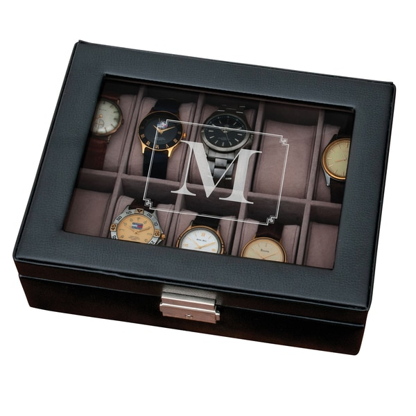 mens watch box shop single initial black free shipping today 30706