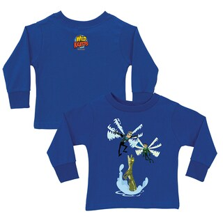 Wild Kratts Dragonfly Power Royal Blue Long Sleeve Tee