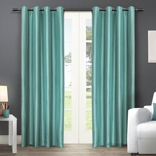 ATI Home Chatra Faux Silk Grommet Top Panel Curtains