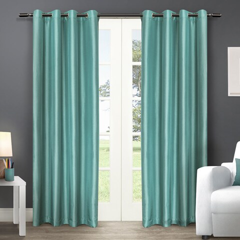 Clay Alder Home McClugage Chatra Faux Silk Grommet Top Panel Curtains - N/ A