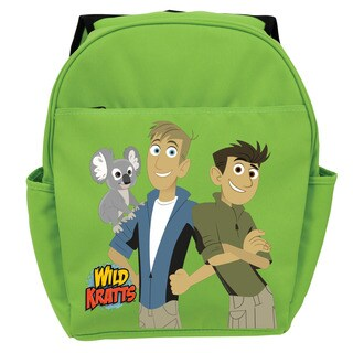 Wild Kratts Koala and Kratt Brothers Green Youth Backpack