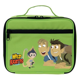 Wild Kratts Monkey and Kratt Brothers Green Lunch Bag