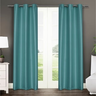 ATI Home Antique Satin Grommet Top 84-inch Curtain Panel Pair