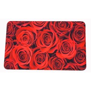 """Somette Roses Memory Foam Anti-fatigue Comfort Mat (18"""" x 30"""")"""