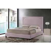 Heidi Modern and Contemporary King Size Beige Linen Upholstered Platform Bed