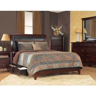 Padded Synthetic Leather Storage Bed in Coco