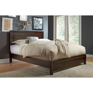 Modern Picture Frame Platform Bed in Chocolate Brown