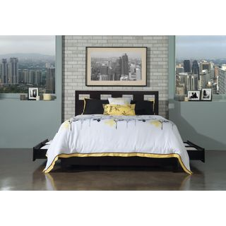 Rectangular Cutout Platform Storage Bed in Espresso