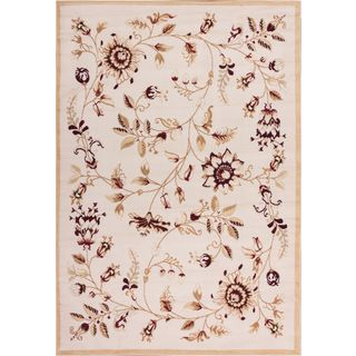 Well Woven Malibu Floral Gold Beige Rug (8'2'' x 9'10)
