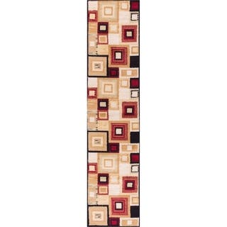 Well Woven Malibu Squares and Boxes Red Black Modern Runner Rug (1'8 x 7'2)|https://ak1.ostkcdn.com/images/products/10605070/P17677161.jpg?impolicy=medium