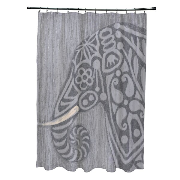 Inky Animal Print Shower Curtain (71 x 74)