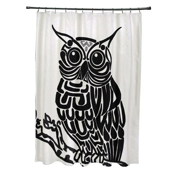 Hootie Animal Print Shower Curtain (71 x 74)