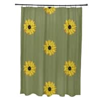 Sunflower Frenzy Flower Print Shower Curtain (71 x 74)