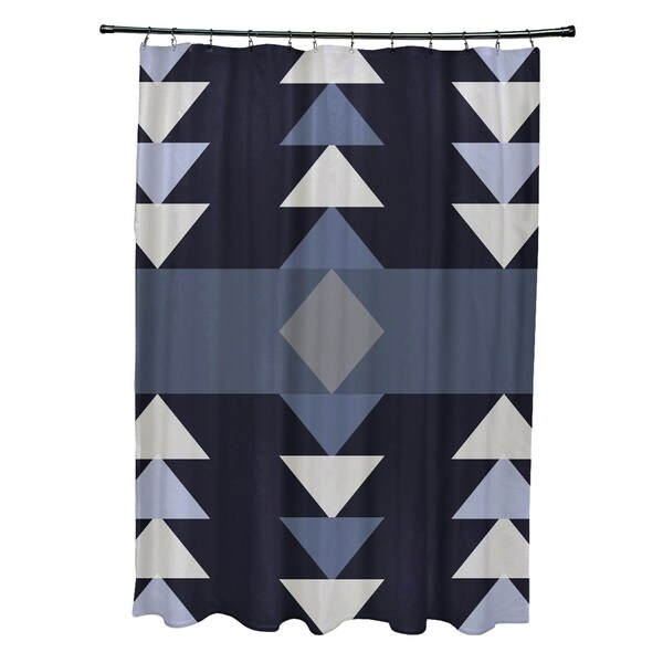 Sagebrush Geometric Print Shower Curtain (71 x 74)