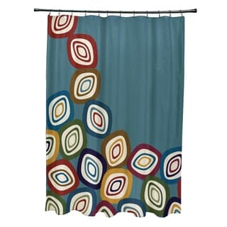 Falling Leaves Geometric Print Shower Curtain (71 x 74)