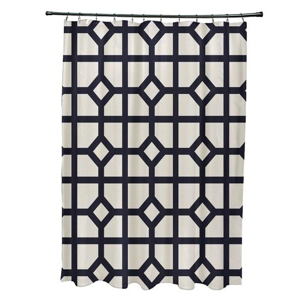 Don't Fret Geometric Print Shower Curtain (71 x 74) - 71 x 74