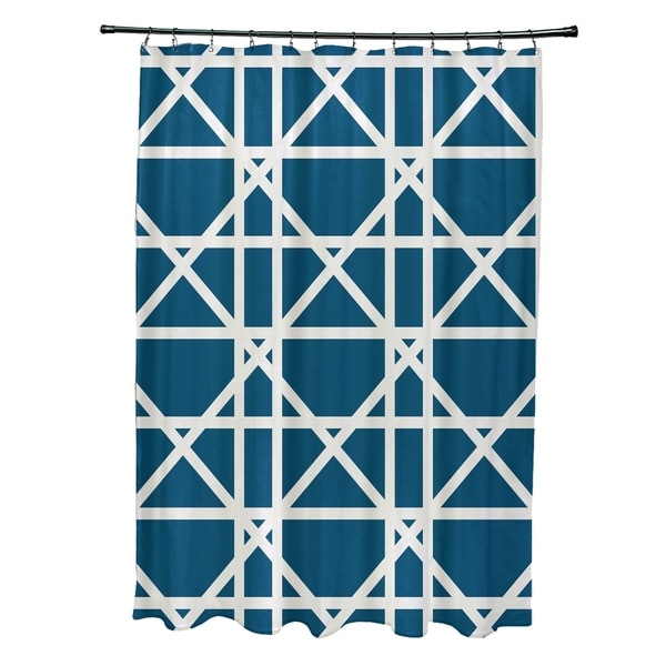 Trellis Geometric Print Shower Curtain (71 x 74)