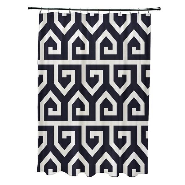Keyed Up Geometric Print Shower Curtain (71 x 74)