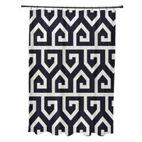 Keyed Up Geometric Print Shower Curtain (71 x 74)