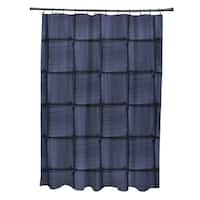 Basketweave Geometric Print Shower Curtain (71 x 74)