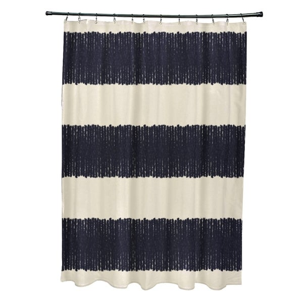 Twisted Stripe Stripe Print Shower Curtain (71 x 74)