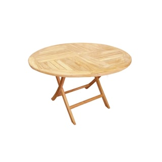 D-Art Teak Crestwood Round Dining Table