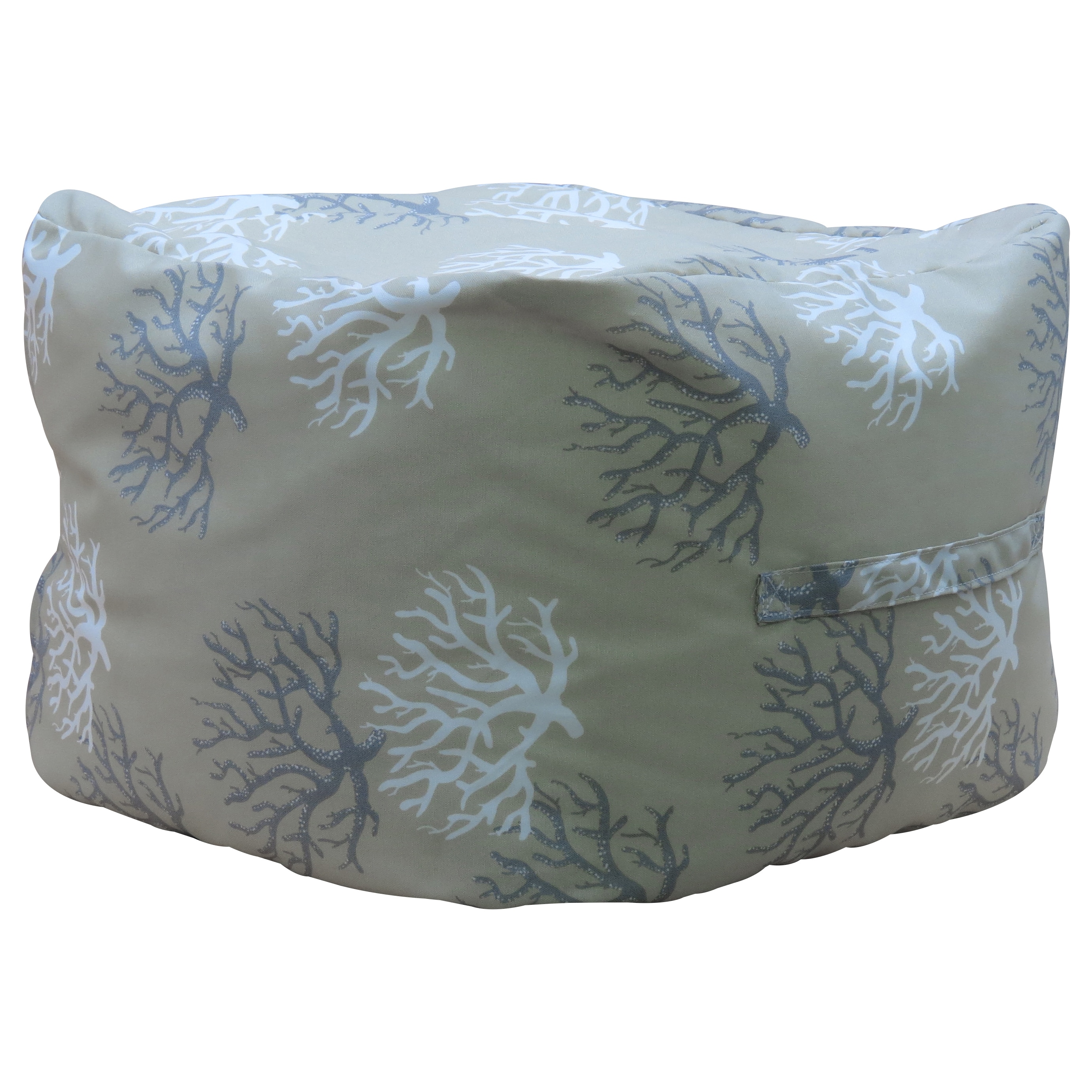 "Premiere Home Isadella Sand 17"" Pouf Footstool (Pouf), Gr..."