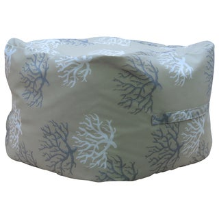 "Premiere Home Isadella Sand 17"" Pouf Footstool"