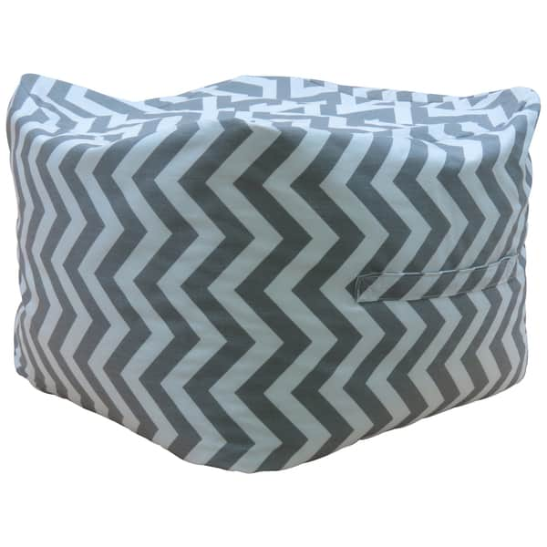 Premiere Home Chevron Storm 17 Pouf Footstool Overstock 10605287