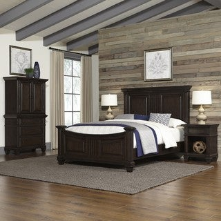 Home Styles Prairie Home Bed, Two Night Stands, and Chest