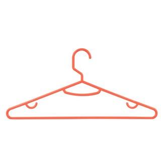 Honey Can Do Orange Plastic Tubular Hangers (Pack of 60)