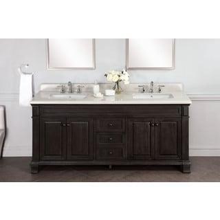 Kingley 72-inch Marble Double Sink Vanity with Backsplash