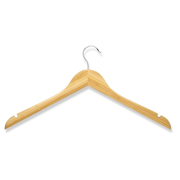shop honey can do bamboo shirt hangers 10 pack free shipping on orders over 45 overstock. Black Bedroom Furniture Sets. Home Design Ideas