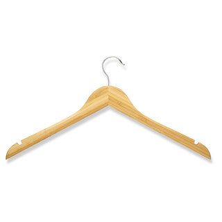 Honey Can Do Bamboo Shirt Hangers 10-pack