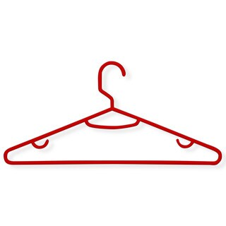 Honey Can Do Red Plastic Hangers (Pack of 60)