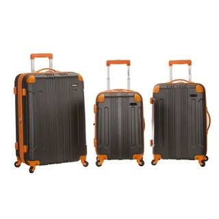 Rockland 3-piece Grey Two-tone Lightweight Expandable Hardside Spinner Luggage Set