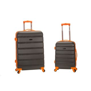 Rockland Super lightweight 2-piece Grey Two-tone Expandable Hardside Spinner Upright Luggage Set