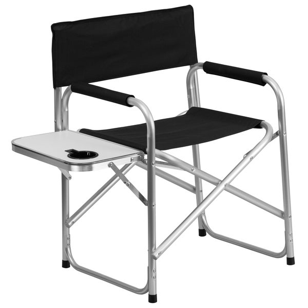 Shop Aluminum Folding Camping Chair With Table And Drink