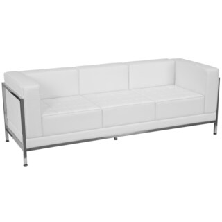 Clay Alder Home Ambassador Contemporary Leather Sofa With Encasing Frame
