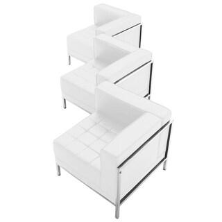 HERCULES Imagination Series Leather 3-piece Corner Chair Set