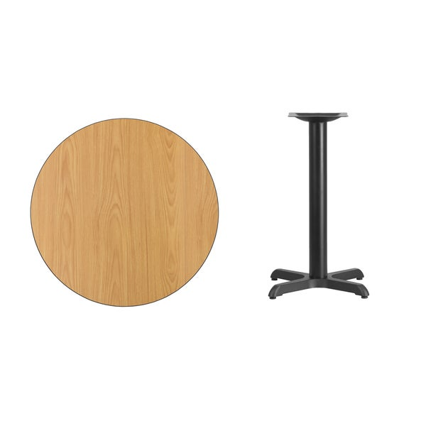 30 Inch Round Laminate Table Top With 22 Inch Table Height Base