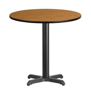 30-inch Round Laminate Table Top with 22-inch Table Height Base