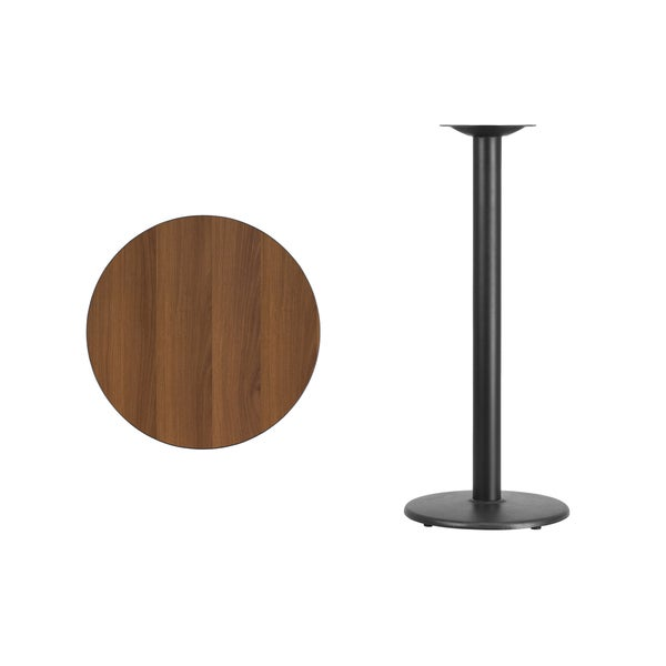 24 Inch Round Laminate Table Top With 18 Inch Table Base