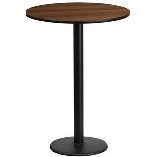 24-inch Round Laminate Table Top with 18-inch Table Base