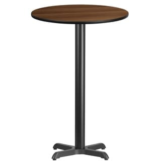 24-inch Round Laminate Table Top with Table Base