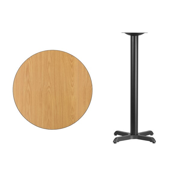30 Inch Round Laminate Table Top With 22 Base Black